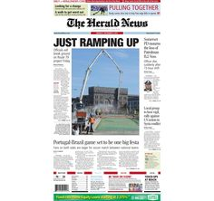 The front page of The Herald News for Monday, Sept. 9, 2013. #fallriver