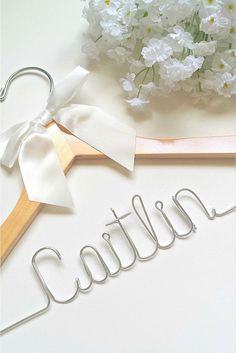 2e0aae620 A special custom bridal hanger for the special bridesmaid! We will put any  first name