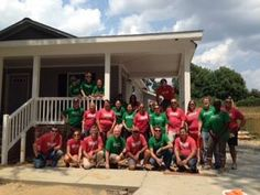 """Thanks @krispykreme Doughnuts for coming out and volunteering with us! Michael Johnson, Sr. Director of International Marketing said it was """"truly transformational"""" for him! We're so glad that you were transformed while you helped us transform the neighborhood! #habitatforsyth #wsnc"""