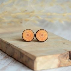 Wooden earrings with sterling silver posts for nature lover - natural pine wood jewelry Small Jewelry Box, Wooden Jewelry Boxes, Studs For Men, Unfinished Wood Boxes, Wooden Earrings, Paper Decorations, Pine, Posts, Sterling Silver