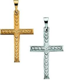 Beautiful gold christian jewelry and cross pendants .