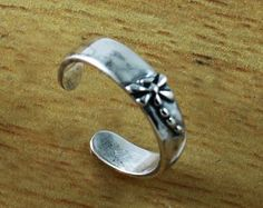 Small DragonFly Adjustable Sterling silver Toe Ring
