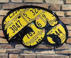 Iowa Hawkeye from Vintage 1972 Iowa Plates via Etsy.