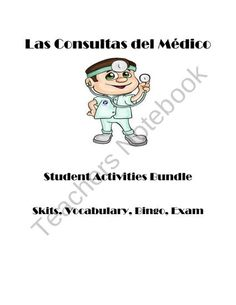 Doctor-Consultas del medico student activities bundle from Spanish Classroom on TeachersNotebook.com (9 pages)