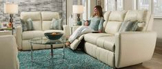 Southern Motion - Knock Out 2 Piece Double Reclining Sofa Set with 2 Pillows & Power Headrest - 865-62-52P