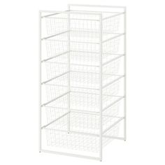 JONAXEL Frame/wire baskets/top shelf, 19 It can be difficult to keep things neat and tidy. JONAXEL storage system lets you utilize the spaces you have in smarter ways. Billy Oxberg, Hemnes Shoe Cabinet, Plastic Bag Dispenser, Basket Drawers, Ikea Pax, White Stain, Drawer Unit, Wire Baskets, Neat And Tidy