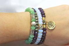 Handmade Tiffany Jazelle Semi-Precious Stone bracelets!!! www.tiffanyjazelle.com