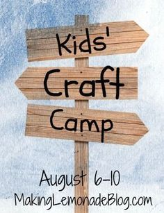 camp crafts Really fun party theme! Tons of Kids Craft Ideas and Kids Activities (Kids Craft Camp) Kids Craft Supplies, Craft Kits For Kids, Diy For Kids, Crafts For Kids, Craft Ideas, Summer Camp Crafts, Camping Crafts, Summer Activities, Church Activities