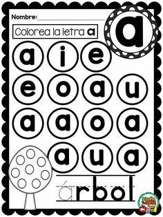 lecto 2do Letter Worksheets, Alphabet Activities, Language Activities, Kindergarten Activities, Educational Activities, Alphabet Books, Preschool Curriculum, Preschool Math, Teaching Babies