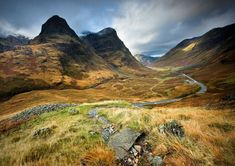 The awsome valley of Glencoe and it's Three Sisters : Gearr Aonach ,Aonach Dubh and Beinn Fhada. Scotland