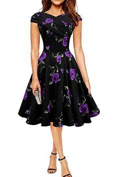 Black Butterfly 'Enya' Vintage Infinity Pin-up Dress (Large Purple Roses, US 16) Black Butterfly Clothing http://www.amazon.com/dp/B014HGHSIY/ref=cm_sw_r_pi_dp_g.BCwb1DA2VRD