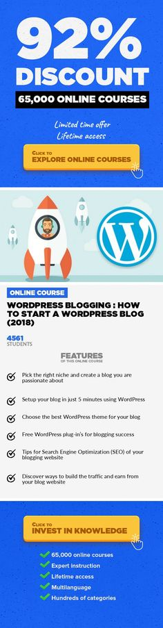 WordPress Blogging : How To Start A WordPress Blog (2018) Web Development, Development #onlinecourses #onlinelearningeducation #onlinelearningbenefits  WordPress Blogging : The Only Guide You Need to Setup Your WordPress Blog Website Do you want to start a WordPress blog the right way? I know that starting a blog can be a terrifying thought especially when you are not geeky. Guess what - you are n...