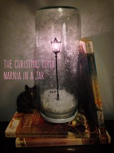 Tutorial with easy step-by-step photos. Make your own light-up Narnia lamp post as a Christmas decoration or a great gift for literary friends!