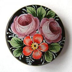 Czech glass flower buttons