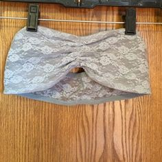Pink bandeau size small gray Good condition PINK Victoria's Secret Intimates & Sleepwear Bandeaus