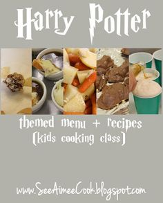 Harry Potter Themed Menu -have a Harry Potter fan in your life? They will love this Harry Potter themed menu! Easy enough for kids to whip up and super fun for a party, movie watching event, kids cooking class, or just a fun family dinner.