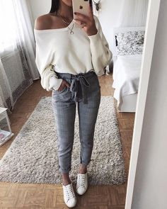 looks mode Femme pour printemps 2018 - 2019 Bilder Fotos Cute Fashion, Look Fashion, Party Fashion, Plaid Fashion, Classy Fashion, Fashion Styles, Trendy Fashion, Winter Fashion, Mode Outfits