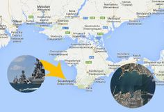 Russian warships arrived in Ukrainian Crimea peninsula coast and landed troops in view of an intervention! Russian-speaking population of Sevastopol Ukrainian flag burning and calls for Putin's help! Troops, Places To Visit, Coast, Flag, Science, Places Worth Visiting, Flags