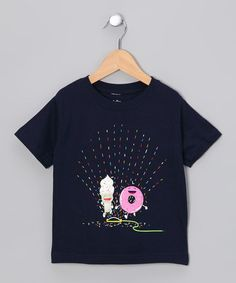 Take a look at this Navy Playin' in the Sprinkler Tee - Toddler on zulily today!