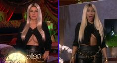 Ellen DeGeneres pays tribute to Nicki Minaj on Halloween episode