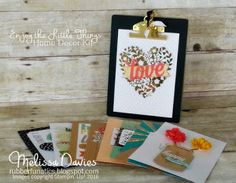 Stampin' Up! Enjoy the Little Things Interchangeable Chalboard Easel by Melissa Davies @rubberfunatics #rubberfunatics #stampinup