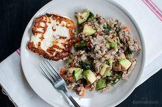 Интегрален ориз со зеленчук и сирење халуми / Brown rice with vegetables and haloumi cheese