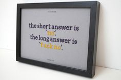 Stephen Fry Quote CrossStitch Poster the by StitchKitschBerlin, €60.00