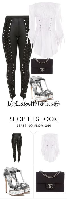 """""""KB070"""" by labelmekarab on Polyvore featuring Chanel, white, women and LabelMeKaraB"""