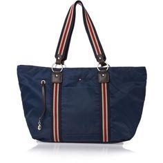 Tommy Hilfiger Bags - Tommy Hilfiger Lindsey Tote Bag - Core Navy ($130) via Polyvore