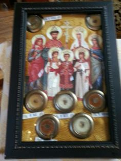 """Relics of the Romanov Imperial Family of Russia, who were murdered on Lenin's others on July 17, 1918: the Emperor or Tsar Nicholas Alexandrovich II, his consort the Empress Alexandra Feodorovna, and their children. Orthodox Christians venerate them as """"Passion-bearers"""" who graciously and courageously bore many sufferings and imprisonment and went to their deaths with great fortitude. https://ryanphunter.wordpress.com/tag/st-nicholas-cathedral/"""