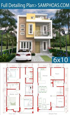 Sketchup Home Design Plan with 4 Rooms – SamPhoas Plansearch Sketchup Home Design Plan mit 4 Räumen – SamPhoas Plansearch 2 Storey House Design, Duplex House Design, Duplex House Plans, House Front Design, Bedroom House Plans, Small House Design, Dream House Plans, Modern House Design, House Floor Plans