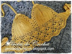 * Pérolas do Crochet: Cropped top em crochet