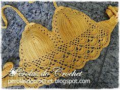 * Pérolas do Crochet: Cropped top em crochet
