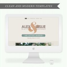 clean + modern wedding websites