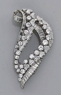 Bonhams Fine Art Auctioneers & Valuers: auctioneers of art, pictures, collectables and motor cars Diamond Brooch, Brooches, Fine Jewelry, Auction, Bracelets, Beautiful, Vintage, Art, Art Background