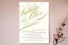 Winter Flourish Wedding Invitations by annie clark at minted.com