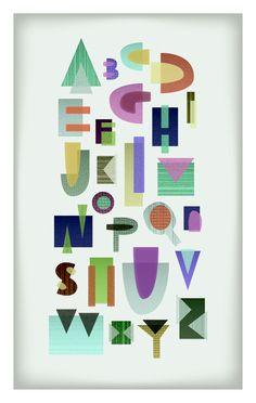 alphabet. typography