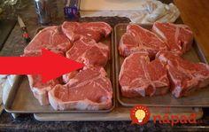 Vždy som sa divila, prečo je v reštaurácií aj hovädzie mäsko také vynikajúce. Na kurze varenia som sa naučila tento postup a naozaj to funguje výborne. Vždy je hovädzie mäkučké a chutné. Potrebujeme: 500 g mäso hovädzie 1 ČL sóda bikarbóna 1 ks na šťavu citrón 1 ks bielok 1 PL (alebo kuk. škrob) Kukuričný... Salty Foods, Czech Recipes, Food 52, Steak, Grilling, Flora, Menu, Tasty, Snacks