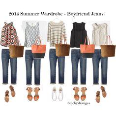 """""""Summer Wardrobe - Boyfriend Jeans"""" by bluehydrangea on Polyvore"""