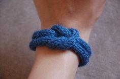 DIY Spool Knit Knot Bracelet Tutorial.