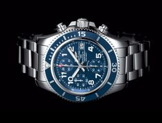An officially chronometer-certified selfwinding chronograph designed to measure impressive feats; a rubber-molded unidirectional rotating bezel to calculate dive times; a case water-resistant to 200m (660ft) to face great depths; an ultra-legible dial featuring large luminescent hands and numerals...