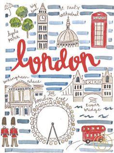 London Map Print by EvelynHenson on Etsy