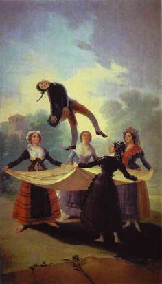Goya, El Pelele (The Straw Mannequin) This painting is featured in the Goya exhibition at the Boston Museum of Fine Arts now on view. 10/13/14
