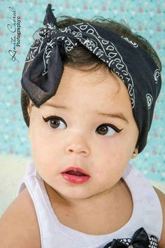 Cute baby girl with makeup ... Aww   P.s Although i don't think makeup should be applied on babies and little girls !, but this pic is adorable :) .