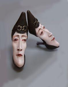 Shoe sculptures Gwen Murphy Studio