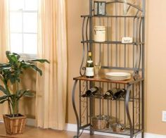 16 Fascinating Decorating A Bakers Rack Ideas Photo
