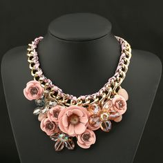 Cheap jewelry college, Buy Quality necklace hanger directly from China necklace camera Suppliers: PINK Necklaces & Pendants Hot Sale Brand ZA Big Resin Crystal Flower Luxury Vintage Choker Statement Necklace Fashion Jewelry Cheap Necklaces, Fashion Jewelry Necklaces, Charm Jewelry, Fashion Necklace, Women Jewelry, Jewlery, Jewelry Watches, Colar Fashion, Flower Choker