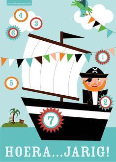* Aftelkalender, voor feest of Piratendag!
