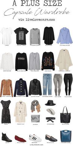 Plus Size Capsule Wardrobe via livelovesara #plussize #capsulewardrobe #capsule