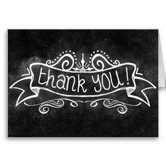 Chalkboard Thank You Greeting Card